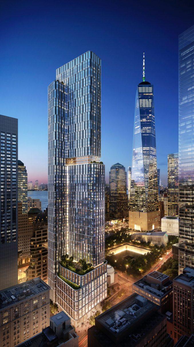 A visual of KPF's 5 World Trade Center