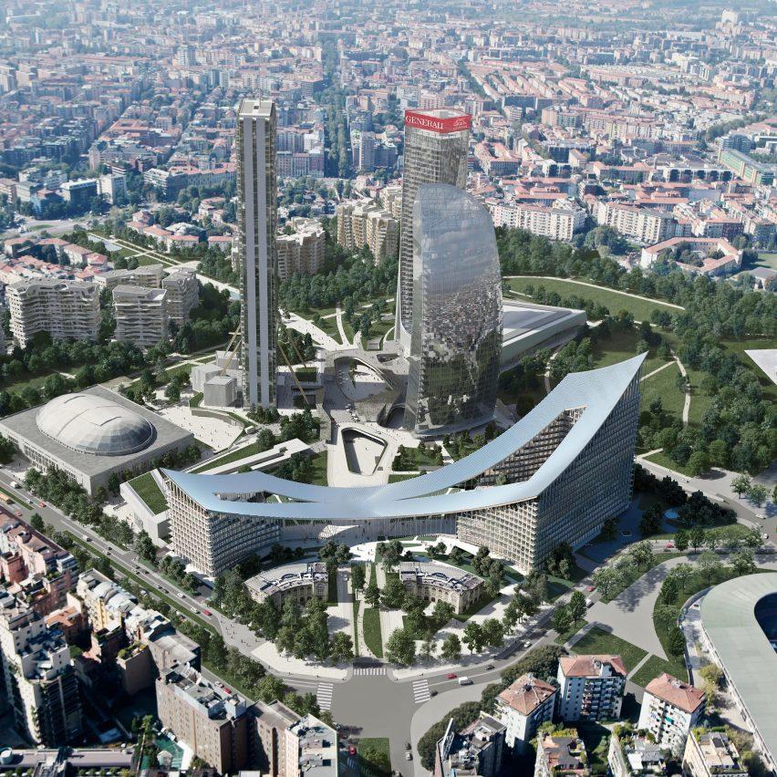 CityWave buildings by BIG in Milan
