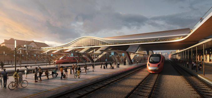 Bridge proposal for Vilnius railway station