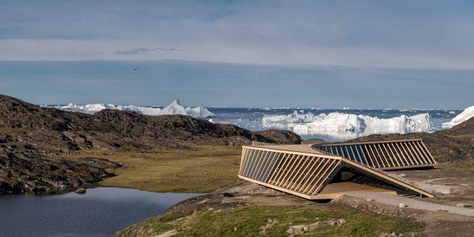 Entrance to Ilulissat Icefjord Centre by Dorte Mandrup Arkitekter