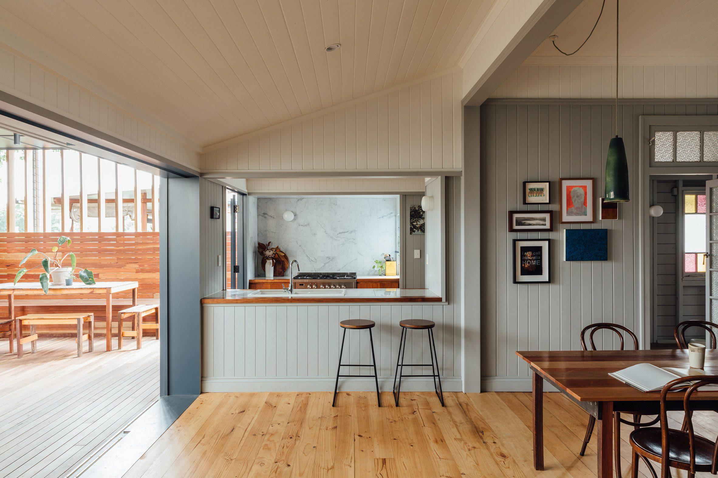 Renovated kitchen in Brisbane home