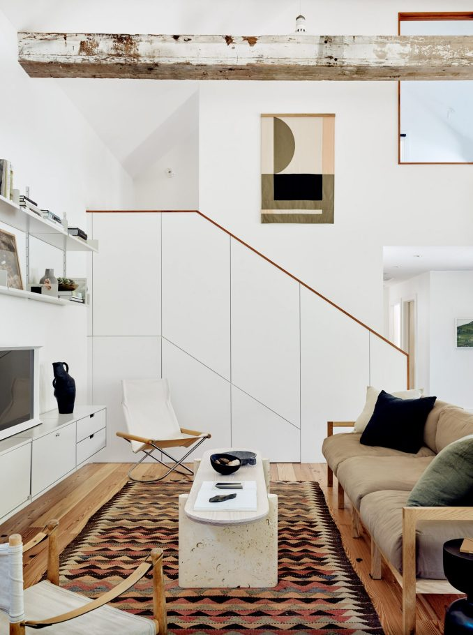 Neutral colours in the open living space