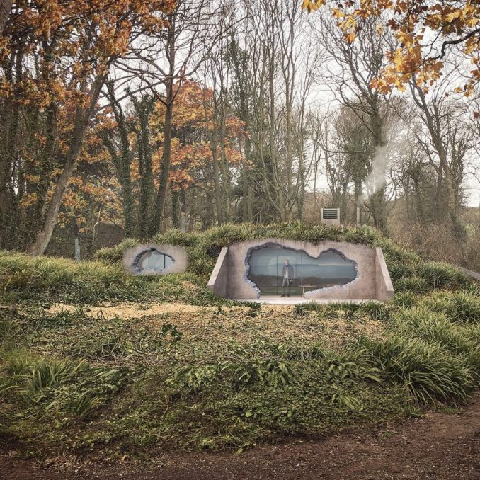 Holiday home in world war two bunker