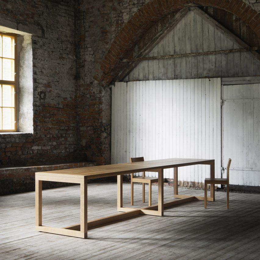 Frame table by John Pawson for Nikari