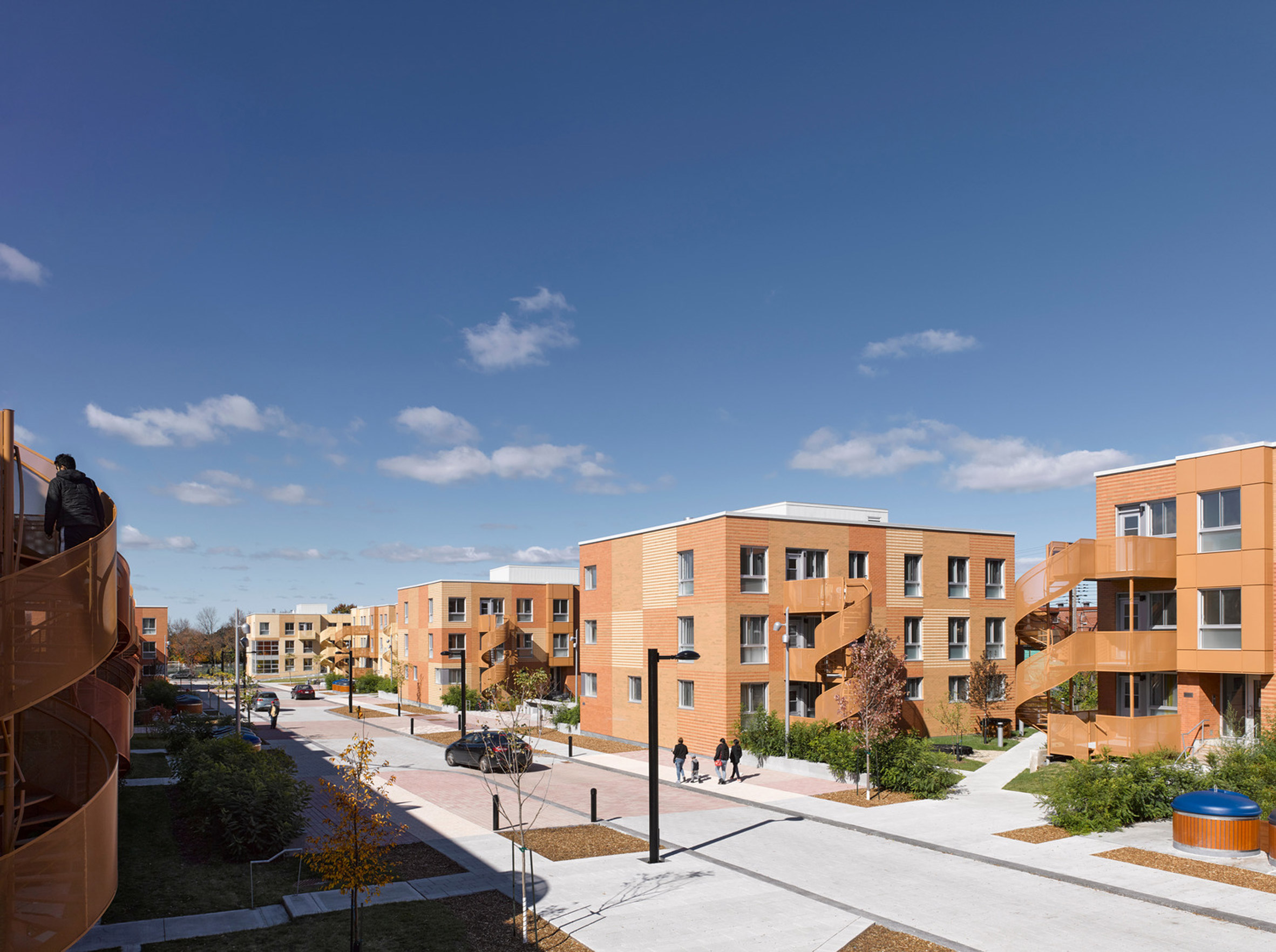 The Habitations Saint-Michel Nord housing complex in Montreal