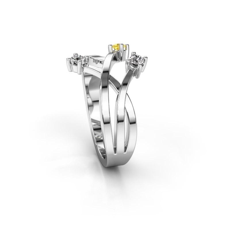 Zierliche Weigold Fantasie Ring mit 25 mm Gelb Saphir Lillian DiamondsByMe