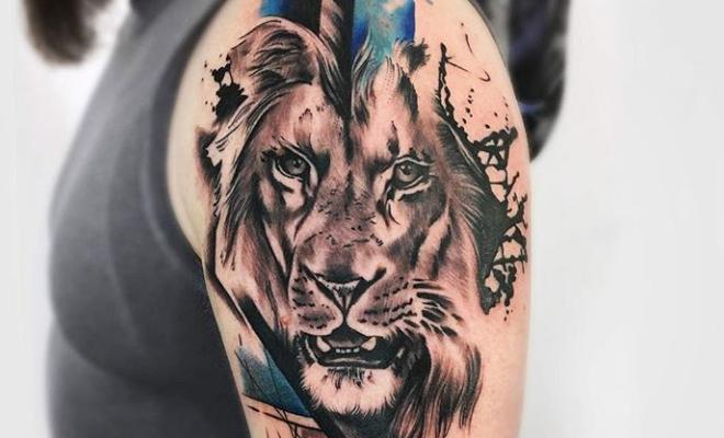 Leon Rugiendo Tattoo