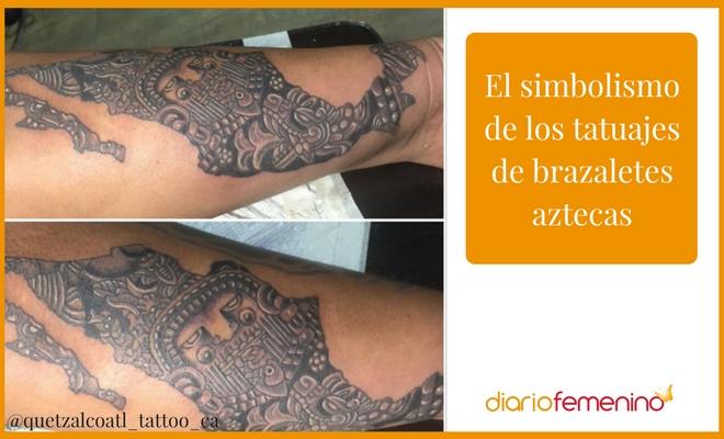 El Simbolismo De Los Tatuajes De Brazaletes Aztecas