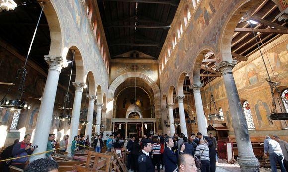 Terror gegen Christen: Schock nach Attentat auf St.-Peter-und-Paul-Kirche in Kairo. / Bild: REUTERS