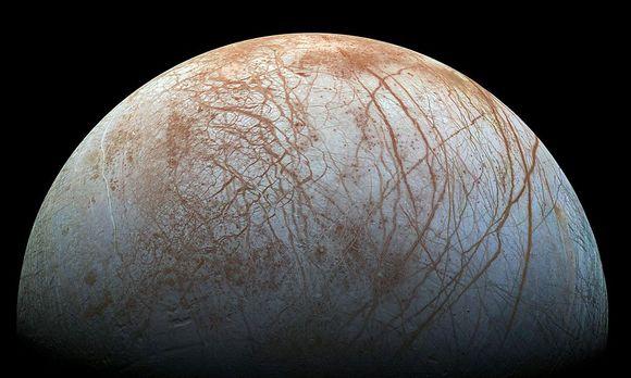 "Der Jupiter-Mond ""Europa"" / Bild: APA/AFP/NASA/JPL-Caltech/SETI In"