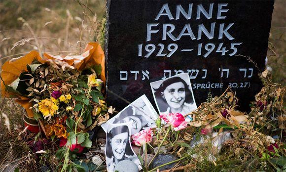Anne-Frank-Gedenkstein im ehemaligen KZ Bergen-Belsen.