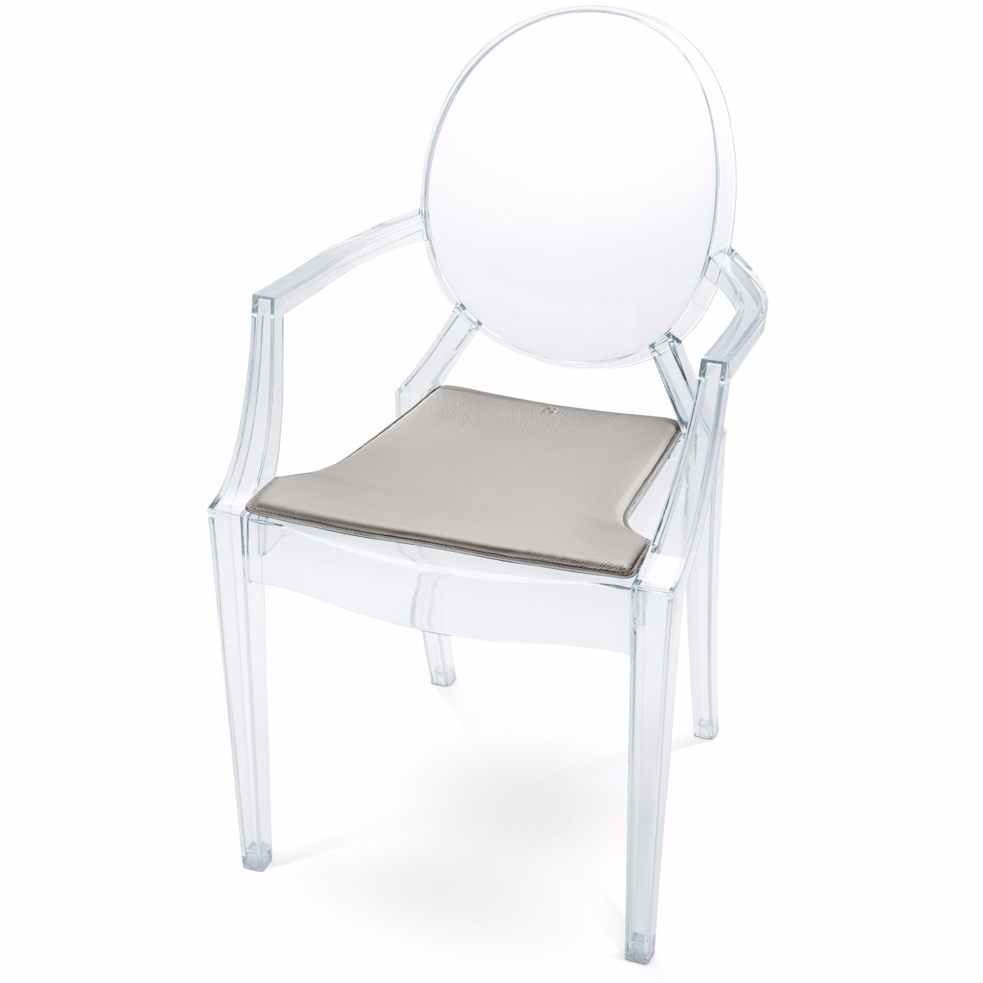cushions for ghost chairs chair covers outdoor leather seat cushion louis by hillmann living