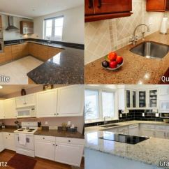 Used Kitchen Countertops Back Splashes Quartz Vs Granite Difference And Comparison Diffen A Side By Of In
