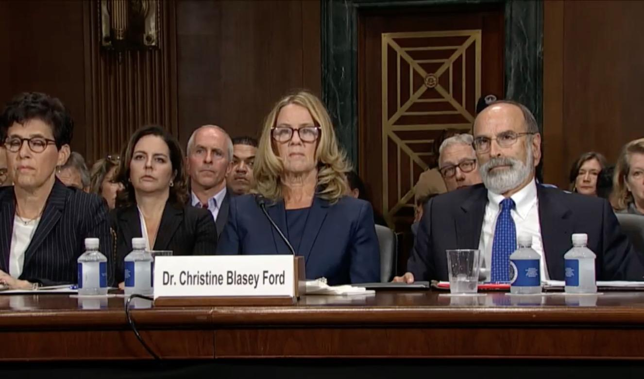 Image result for photos of dr ford at hearing