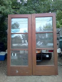 7.5 foot tall solid mahogany french doors