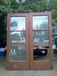 7.5 foot tall solid mahogany french doors | DiggersList