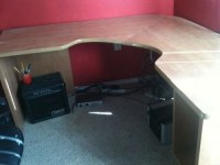 wall mount corner desk