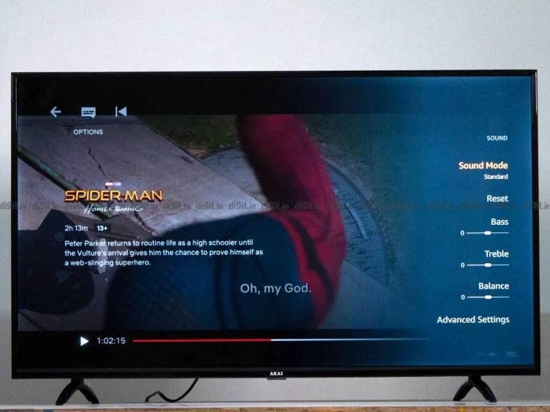 The Akai TV has lacklustre audio.