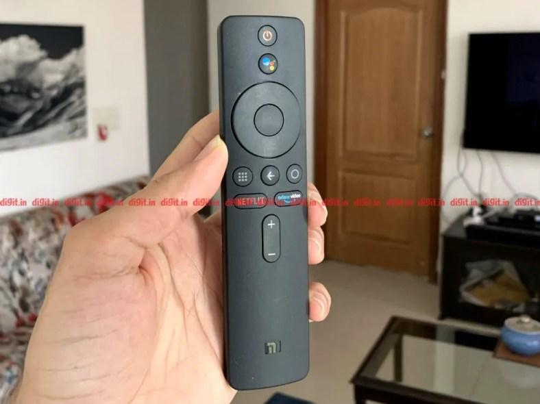 The Mi Box 4K has a minimalist remote control.