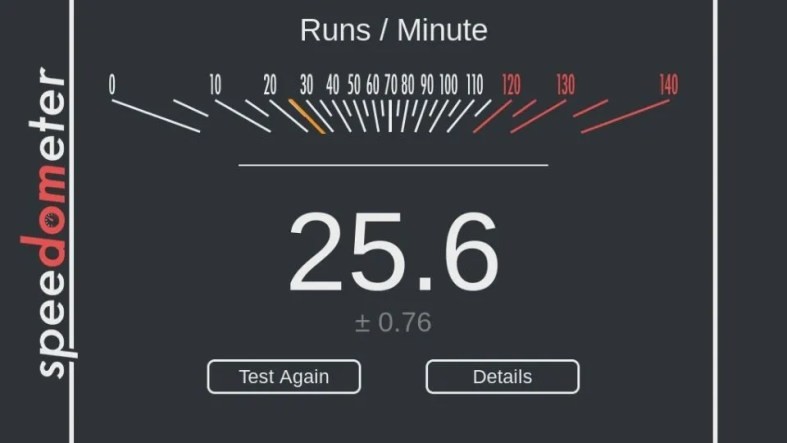 ASUS Chromebook C223 Speedometer