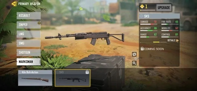 SKS marksman rifle is the newest addition to Call of Duty: Mobile