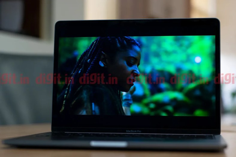 The Apple MacBook Pro 13-inch sports  an IPS LCD  panel with  support for Dolby Vision