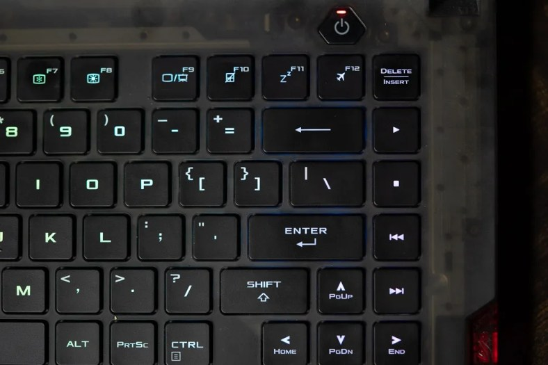 The Asus ROG Strix Scar 15 comes with per-key RGB and opto-mechanical keys