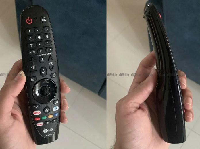 O LG GX tem o mesmo controle remoto do LG C9 do ano passado.