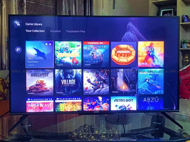 The Realme TV is a decent option for PS5 gaming.