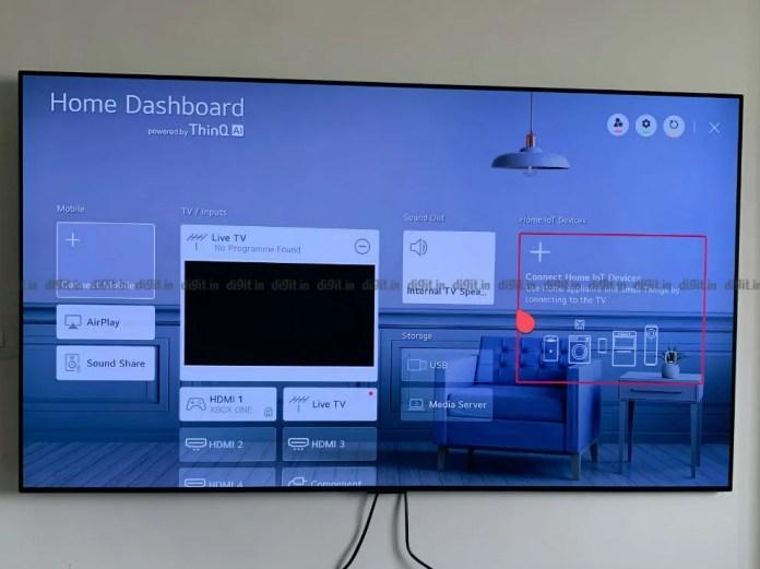 Você pode controlar dispositivos domésticos inteligentes usando o LG GX.