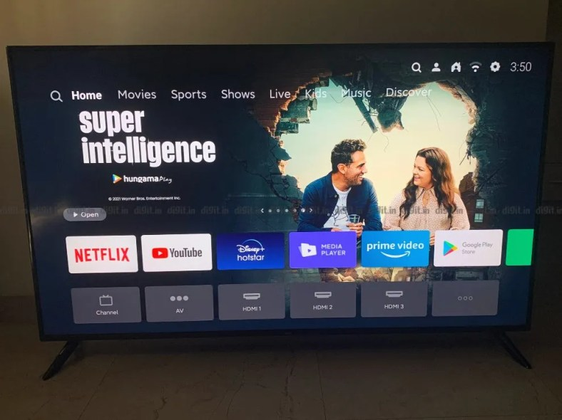 The Redmi Smart TV X65 runs on the PatchWall UI and Android TV.