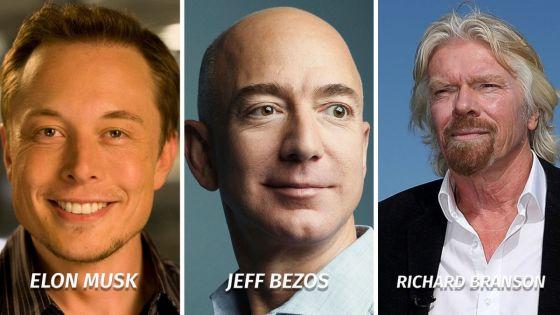 Джеф Безос, Илон Мъск и Ричард Брансън са пионерите, които направиха космическия туризъм по-достъпен