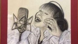 Портрет на Лили Иванова на изложбата