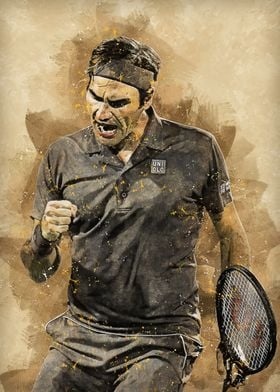 roger federer poster by ab5 collections displate