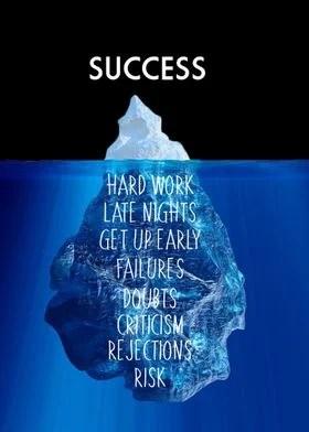 success iceberg night