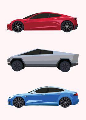 minimalist tesla cars 1 poster by vertei displate