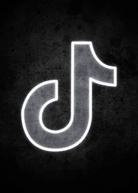 Tiktok Black And White Logo : tiktok, black, white, Poster, Print, Geisom, Arana, Displate