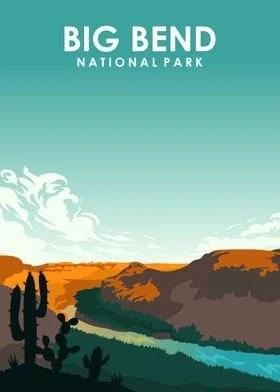 big bend national park posters art