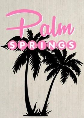 palm springs retro vintage poster by