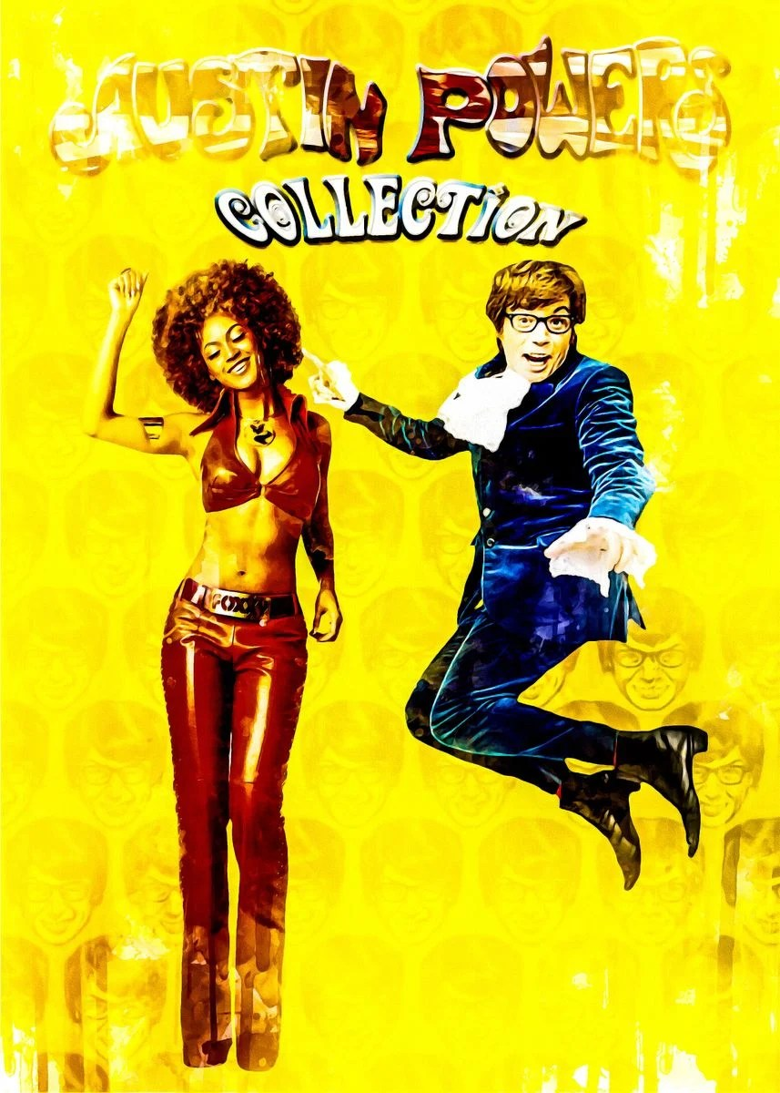 austin powers collection poster by jeffery anabelle displate