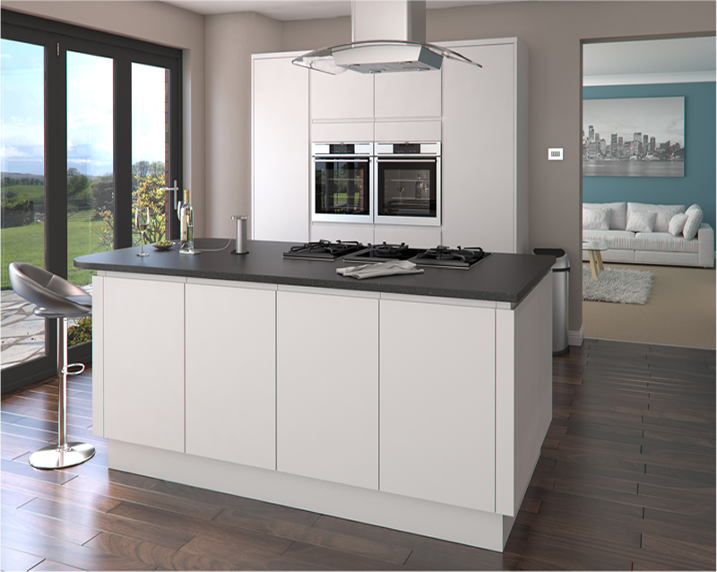 Luca Matt White Kitchens Buy Luca Matt White Kitchen Units At Trade Prices
