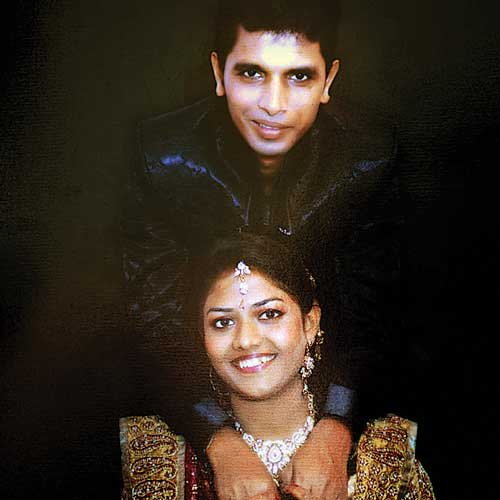 Jayesh Raut and wife Trupti in happier times.