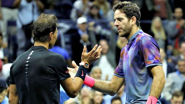 Image result for juan martin del potro vs. rafael nadal us open 2017
