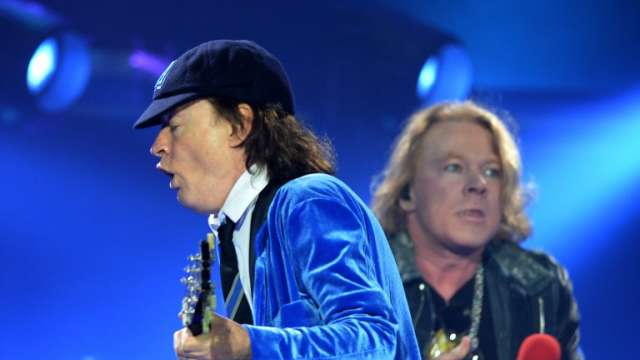 Angus Young and Axl Rose