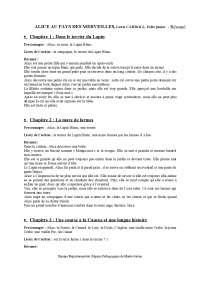 Alice Au Pays Des Merveilles Analyse Personnages : alice, merveilles, analyse, personnages, Alice, Merveilles, Résumé, Docsity
