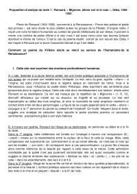 Mignonne Allons Voir Si La Rose Commentaire : mignonne, allons, commentaire, Proposition, D'analyse, Texte, Ronsard,, Mignone,, Allons, Odes,, 1550-1552, Docsity