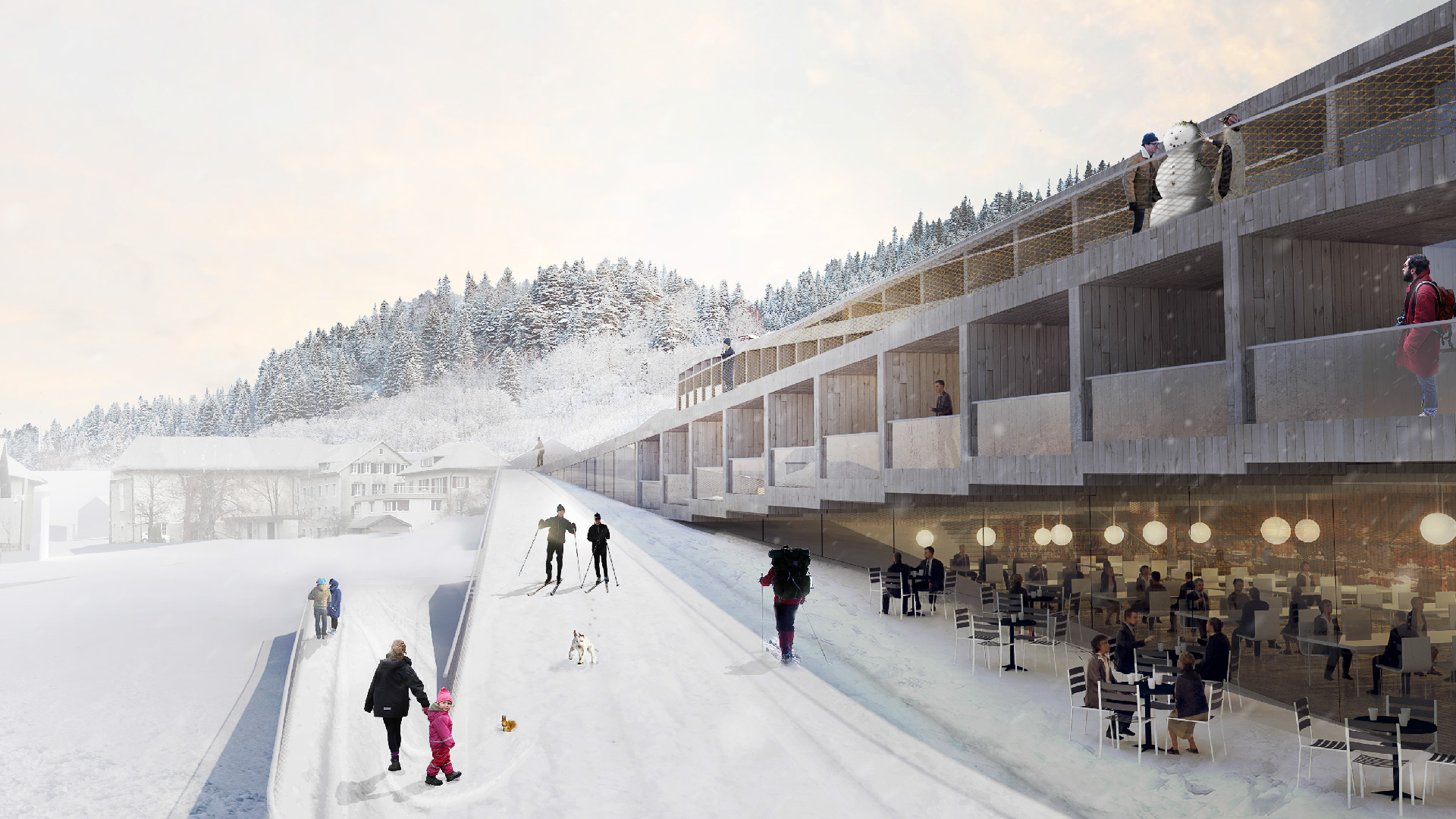 You Can Ski Down The Zig Zagging Roof Of This New Hotel In