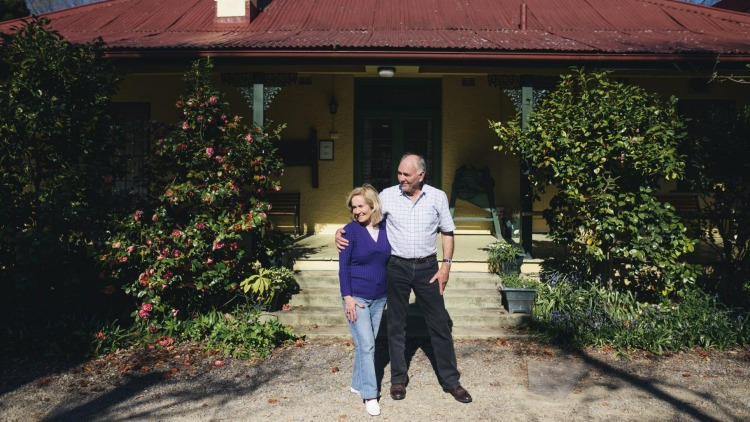 Brian and Guillermina Barlin are selling Brindabella Station, their home of more than 30 years. Photo: Rohan Thomson