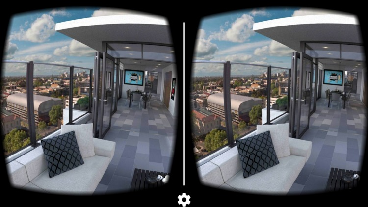 swivel chair vr cover hire thurrock virtual reality app allows buyers to walk through an apartment before it's built