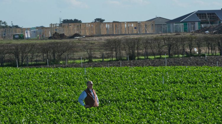 Melbourne's traditional food producing areas, such as Clyde in the city's south east, are being met by urban sprawl.